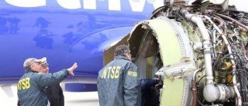 انفجار موتور هواپیما یک مسافر را کشت